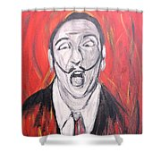 Dali In Hell Shower Curtain