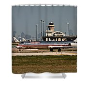 Dallas Airport And Skyline Shower Curtain