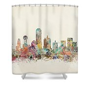 Dallas City Shower Curtain
