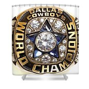 Dallas Cowboys First Super Bowl Ring Shower Curtain