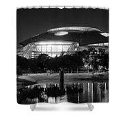 Dallas Cowboys Stadium Bw 032115 Shower Curtain