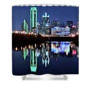 Dallas Dark Blue Night Shower Curtain