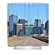 Dallas In The Rear View Shower Curtain