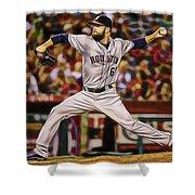 Dallas Keuchel Baseball Shower Curtain