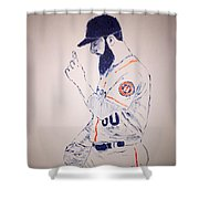 Dallas Keuchel Give Thanks Shower Curtain