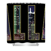 Dallas Letter Skyline 013018 Shower Curtain