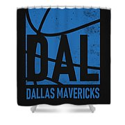 Dallas Mavericks City Poster Art Shower Curtain
