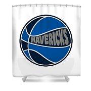 Dallas Mavericks Retro Shirt Shower Curtain