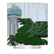 Dallas Pegasus Reunion Tower Green 030518 Shower Curtain