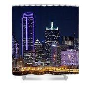 Dallas Purple Night 71417 Shower Curtain