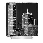 Dallas Shapes Monochrome Shower Curtain