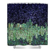 Dallas Skyline Abstract 4 Shower Curtain