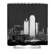 Dallas Skyline Bw 113017 Shower Curtain
