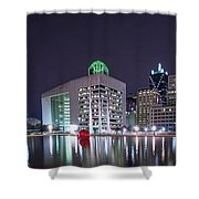 Dallas Skyline From City Hall Shower Curtain