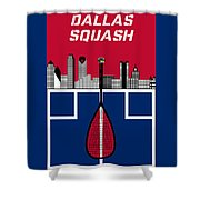 Dallas Squash T-shirt-1 Shower Curtain