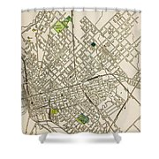 Dallas Texas Map 1899 Shower Curtain