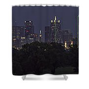 Dallas Trinity River Panorama Shower Curtain