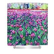 Dallas Tulips Shower Curtain