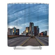 Dallas View At Dusk Shower Curtain