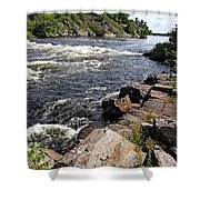 Dalles Rapids French River I Shower Curtain