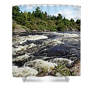 Dalles Rapids French River II Shower Curtain