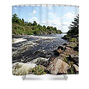 Dalles Rapids French River Iv Shower Curtain