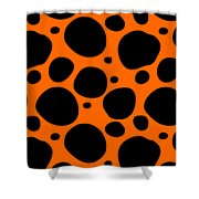 Dalmatian  Black Pattern 03-p0173 Shower Curtain
