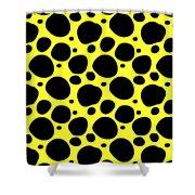 Dalmatian  Black Pattern 05-p0173 Shower Curtain