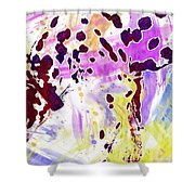 Dalmatian Dog Snow Bland And White  Shower Curtain