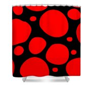 Dalmatian Pattern With A Black Background 02-p0173 Shower Curtain