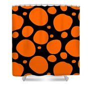 Dalmatian Pattern With A Black Background 03-p0173 Shower Curtain