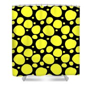 Dalmatian Pattern With A Black Background 05-p0173 Shower Curtain