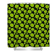 Dalmatian Pattern With A Black Background 09-p0173 Shower Curtain