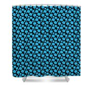Dalmatian Pattern With A Black Background 18-p0173 Shower Curtain