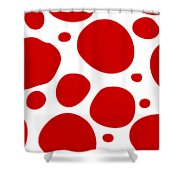 Dalmatian Pattern With A White Background 02-p0173 Shower Curtain