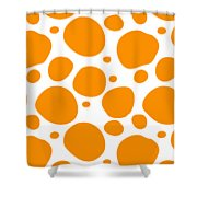 Dalmatian Pattern With A White Background 03-p0173 Shower Curtain