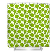 Dalmatian Pattern With A White Background 09-p0173 Shower Curtain