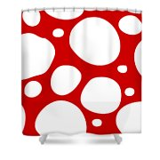 Dalmatian  White Pattern 02-p0173 Shower Curtain