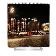 Dam Square Late Night - Amsterdam Shower Curtain