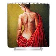 Dama De Rojo Shower Curtain