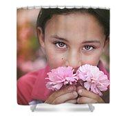 Damask Roses Shower Curtain