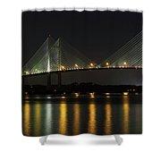 Dames Point Bridge Shower Curtain