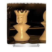 Damianos Bishop Mate Shower Curtain by James Barnes