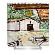 Dan Lawson Barn Shower Curtain