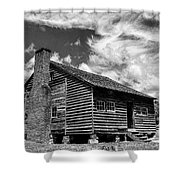 Dan Lawson Place With Brick Chimney Shower Curtain