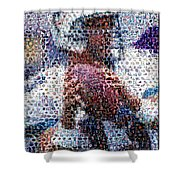 Dan Marino Mosaic Shower Curtain