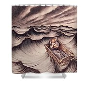 Danae And Her Son Perseus Put In A Chest And Cast Into The Sea Shower Curtain