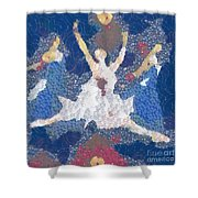 Dance Abstract In The Mix Shower Curtain