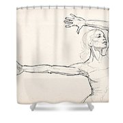 Dance Anatomy Shower Curtain