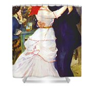 Dance At Bougival 1883 Shower Curtain